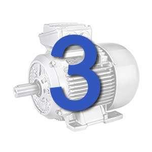 3 phase electric motors 230/400/690 V
